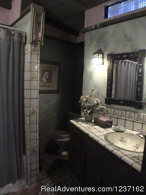 The Contessa Room Bathroom - A Wild Purple Ranch & Retreat
