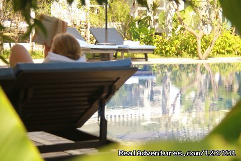 Pool area  - Frangipani Villa Hotel- Angkor Wat, Siem Reap