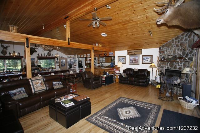 Main Lodge Interior - Horseback Riding Adventures