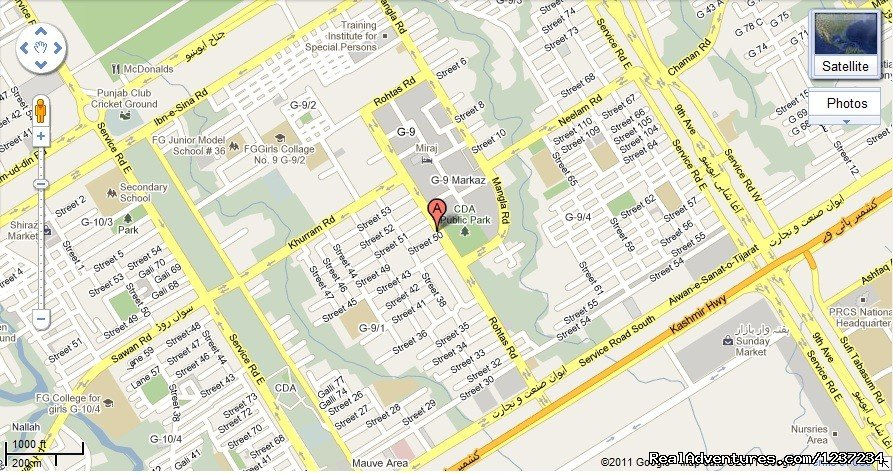 Directions at Rooms alike Hotel Guest House in Islamabad | Image #14/15 | RooMs Islamabad