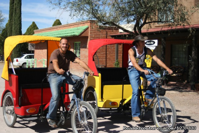 Tubac's  Pedicab Tour Guides - Spirit Steps Tours