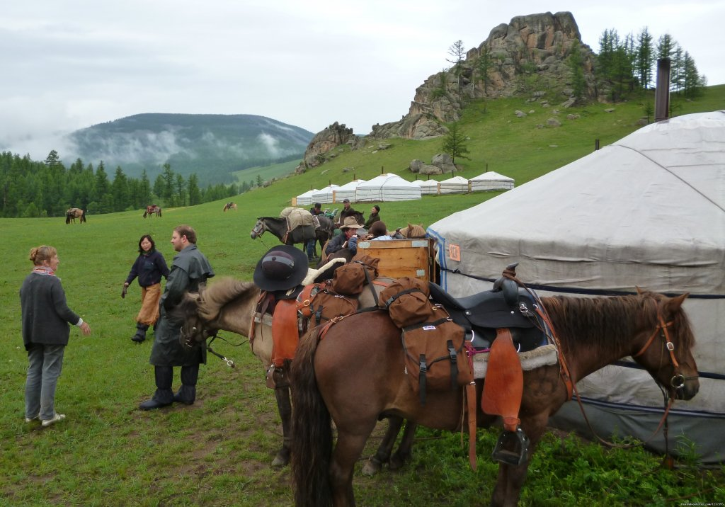 Stone Horse Expeditions & Travel, Arrival at a Ger Camp | Image #10/26 | Mongolia Horseback Riding Tours  with Stone Horse