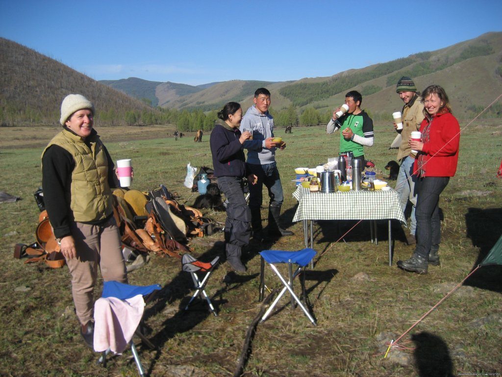 Stone Horse Expeditions & Travel, Breakfast in Camp | Image #13/26 | Mongolia Horseback Riding Tours  with Stone Horse