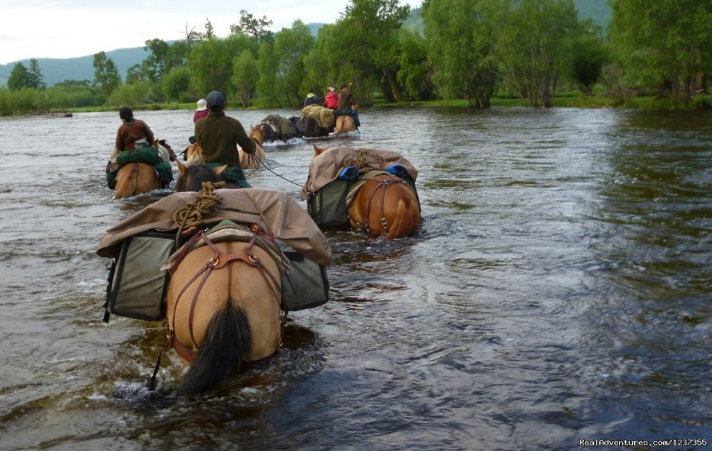 Stone Horse Expeditions and Travel, River Crossing | Image #16/26 | Mongolia Horseback Riding Tours  with Stone Horse