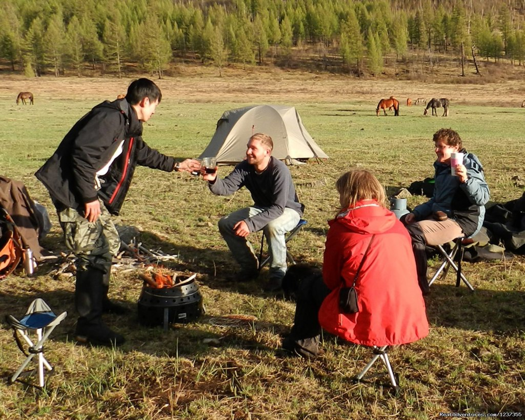 Stone Horse Expeditions & Travel, Happy Hour.. | Image #21/26 | Mongolia Horseback Riding Tours  with Stone Horse