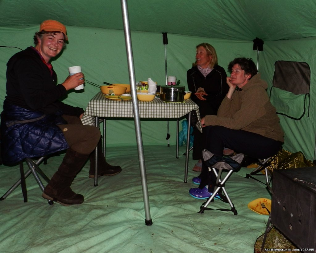 Stone Horse Expeditions & Travel, inside the heated tent | Image #24/26 | Mongolia Horseback Riding Tours  with Stone Horse