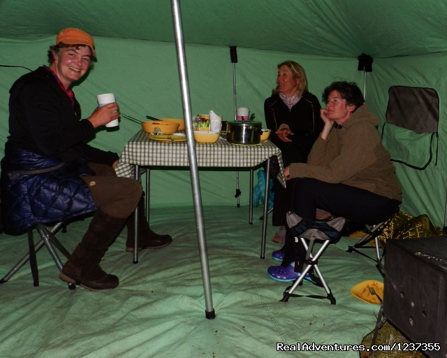 Stone Horse Expeditions & Travel, inside the heated tent - Mongolia Horseback Riding Tours  with Stone Horse