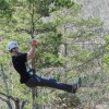 Zip lining in East Texas