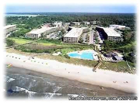 View from Air of Resort | Image #4/16 | OCEAN RESORT w/Largest Pool On Island On Beach