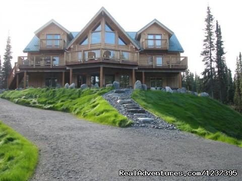 Rear View - Upscale Lodging on the Kenai River, Alaska