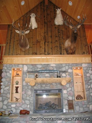 Fire Place - Upscale Lodging on the Kenai River, Alaska