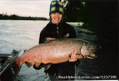 59 Pound King Salmon - Upscale Lodging on the Kenai River, Alaska