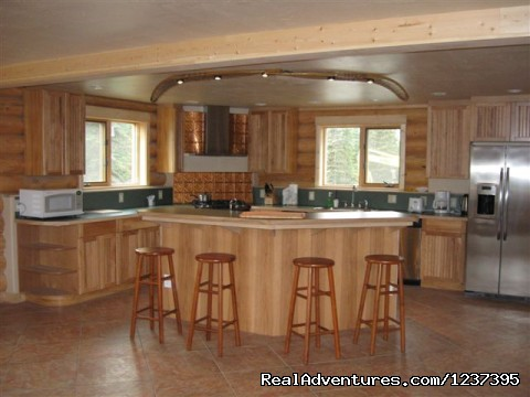 Kitchen - Main - Upscale Lodging on the Kenai River, Alaska