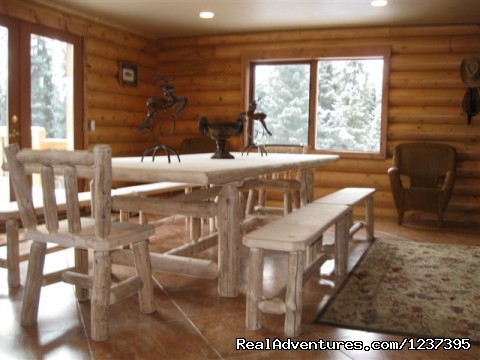 Dining Area - Upscale Lodging on the Kenai River, Alaska