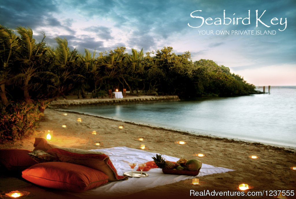 Enjoy the romance of your own private beach. | Image #24/24 | Seabird Key, Private Island,  Sandy beach & boat