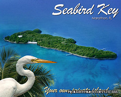 Seabird Key, Private Island,  Sandy beach & boat