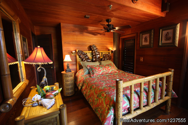 The Captain's Quarters/ Master Bedroom  w/ bath & balcony. - Seabird Key, Private Island,  Sandy beach & boat