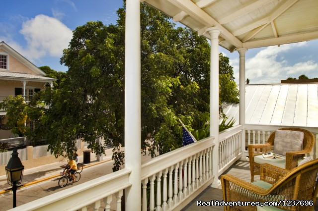 Tropical Inn, Duval Street veranda - Most Romantic Inn in Key West