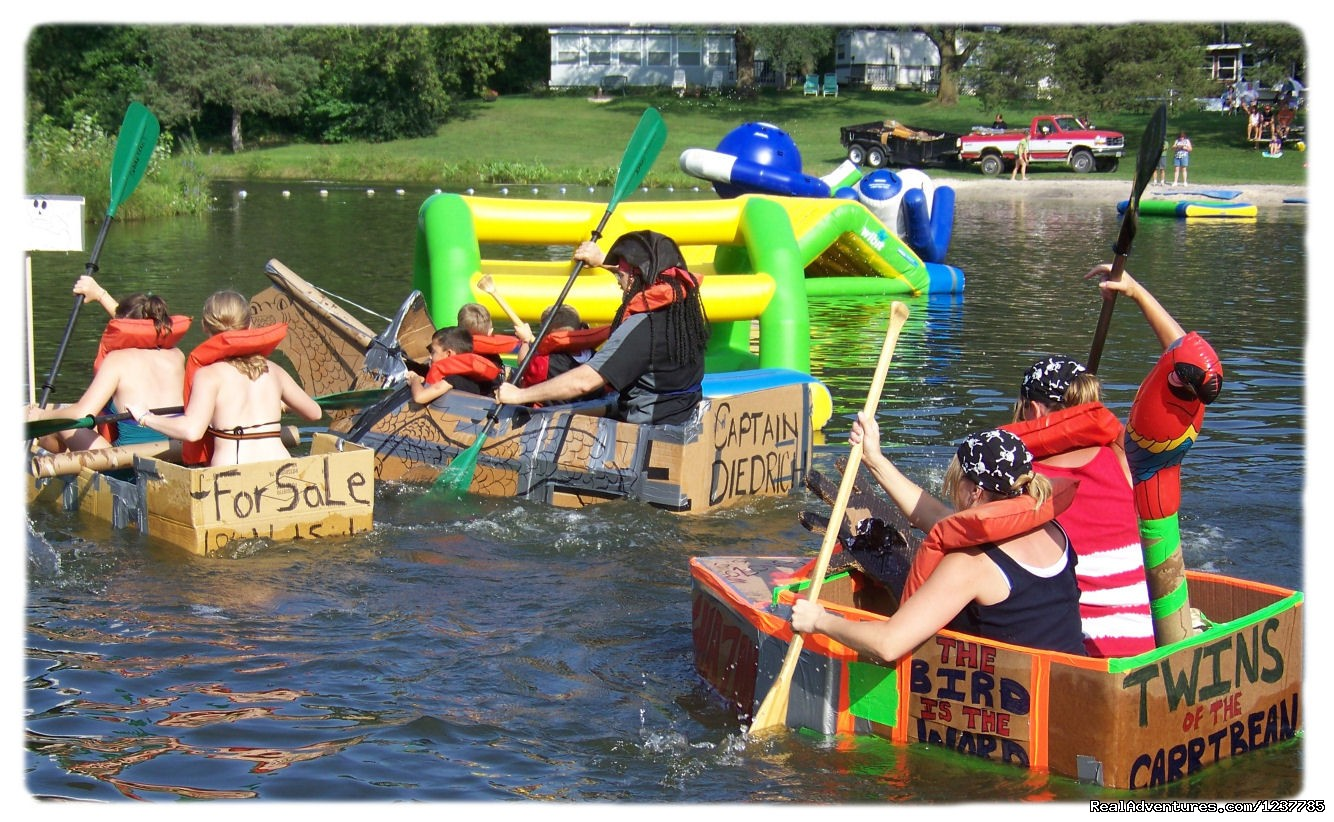 Annual Pirate Weekend Cardboard Boat Rade