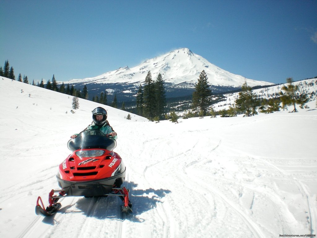 Amy rocking Ash Creek Crater | Image #11/12 | Ride the volcano Snowmobile Mt Shasta, Ca.