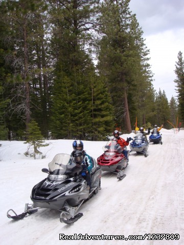 Family fun day - Ride the volcano Snowmobile Mt Shasta, Ca.