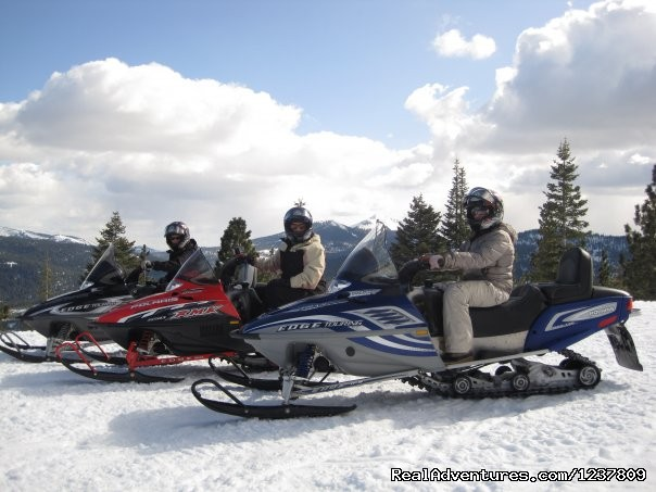 - Ride the volcano Snowmobile Mt Shasta, Ca.
