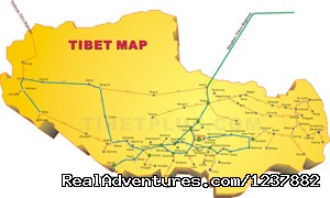 Tibet Map (#7 of 7) - Small Group Expedition for 7 Days Mt. Everest Tour
