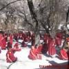 Debates among monks on Sera Monastery