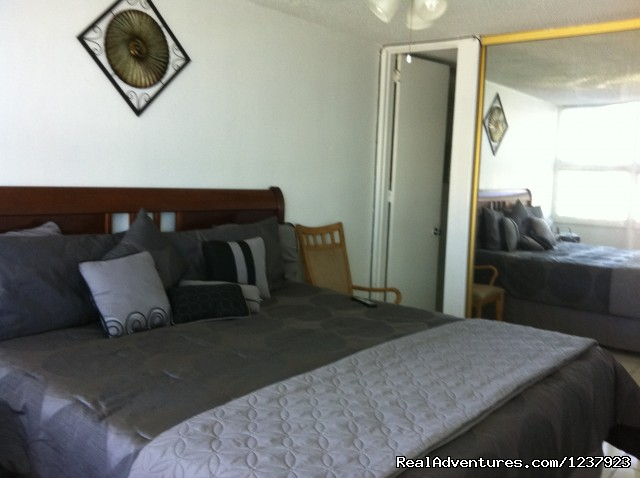 Master Bed - Beautiful Apt in Isla Verde-Free bus to beach