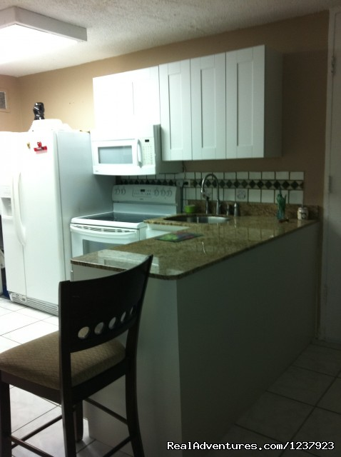 Kitchen - Beautiful Apt in Isla Verde-Free bus to beach