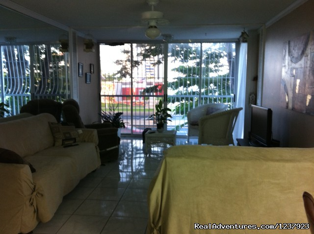 Living Room - Beautiful Apt in Isla Verde-Free bus to beach