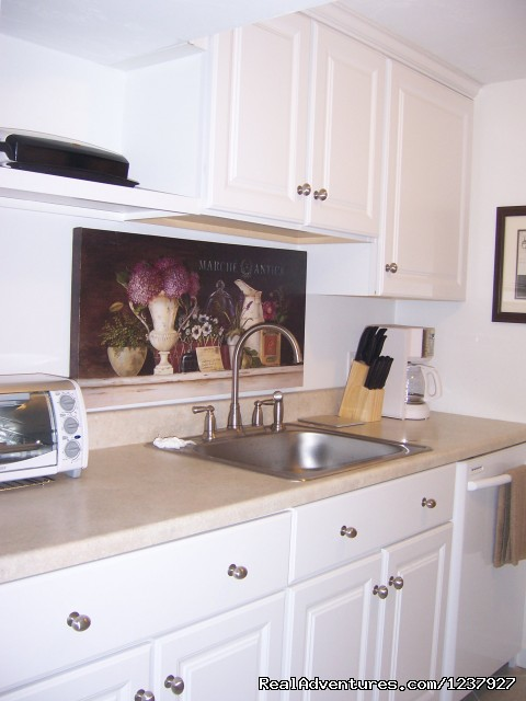 Galley Kitchen Is Cute,Compact, Convenient - Kayaking & Much More... At Waters Edge Beach House
