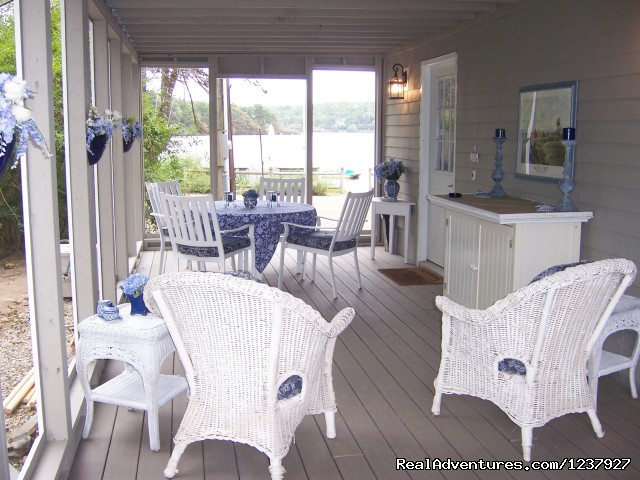 Screened Porch At Waters Edge - Kayaking & Much More... At Waters Edge Beach House