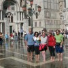 Bikers in Venice floods