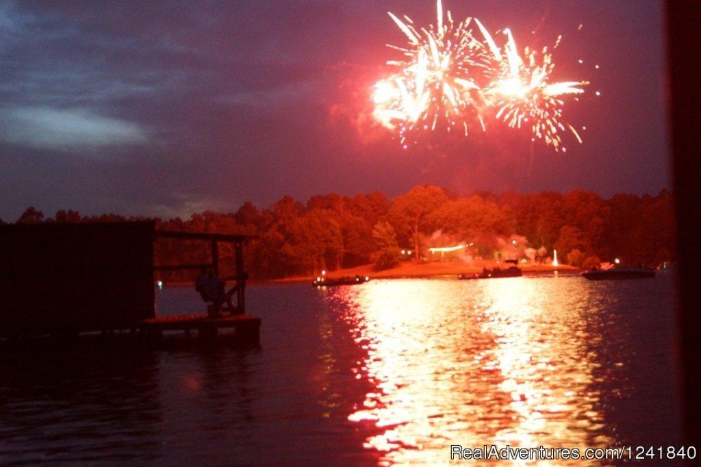 4th July fireworks easily seen from our waterfront | Image #17/25 | Crockett Family Resort & Marina