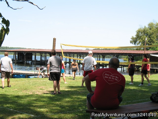 Volley Ball Games At The Water's Edge - Crockett Family Resort & Marina