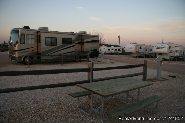 Spacious Pull-Thru's - East View RV Ranch