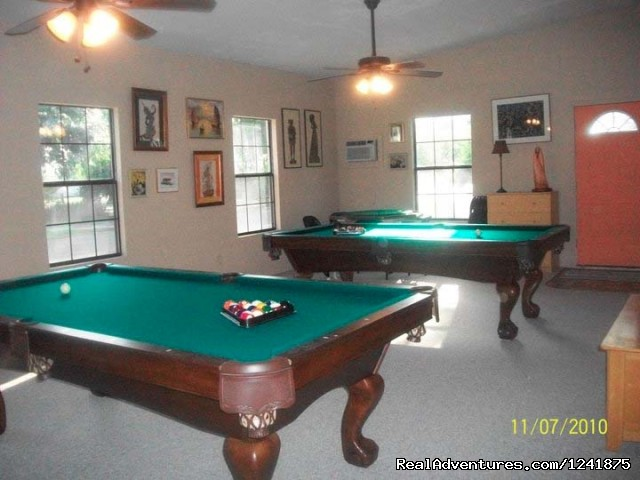 AmeriCana pool tables - Americana: The Birding Center RV Resort