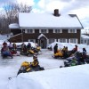 Snowmobiles: Katahdin Lodge, Moro Plantation, Maine