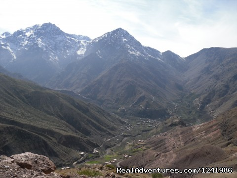 Imlil from Tizi n Tamatert - Toubkal Mountain Leader