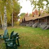 Authentic log cabin accommodations