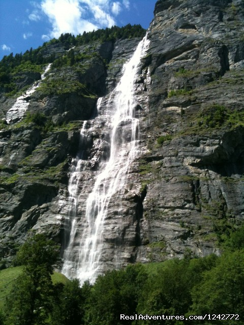 Muerrenbachwaterfall- Sightseeing tour stop - Interlaken Sightseeing-Bus Tour-Taxi Tour- airport