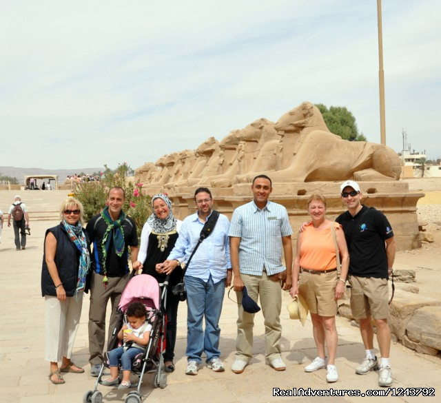 Day Trips in Luxor, Cairo, Aswan: our Group at Karnak Temples