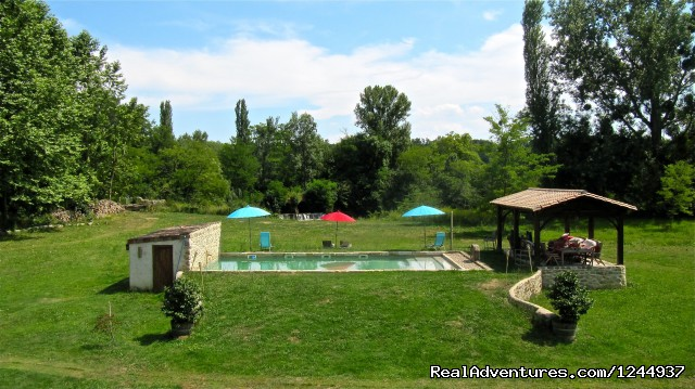 Swimming pool and lounging pavilion (#2 of 10) - Charming chateau/mill on river nr Bordeaux