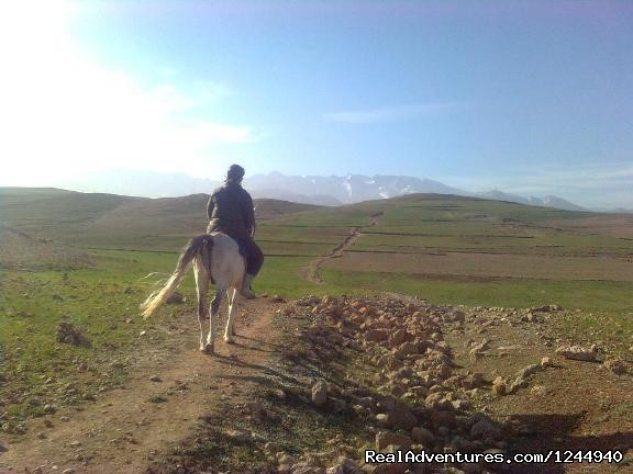 Horseback riding in the Atlas Mountains
