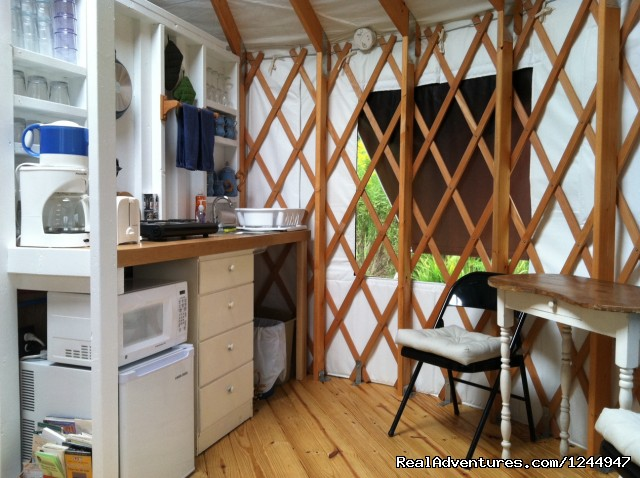 Kitchen - Yurt for Rent- Private Nature Retreat