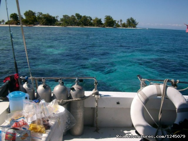 Our dive boat (#2 of 17) - Diving on remote Caribbean island in Belize