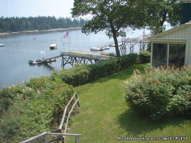 View from the twin bedroom. - Quiet Maine Waterfront Cottage