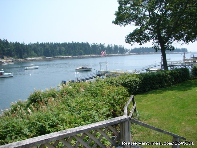 Relax on the deck. - Quiet Maine Waterfront Cottage
