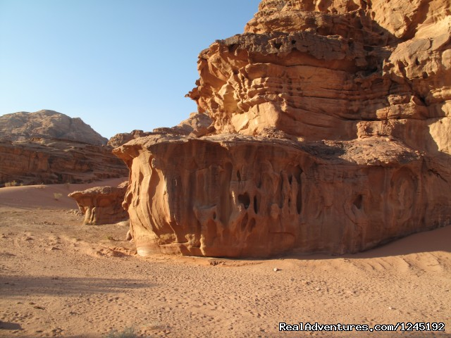 Badia Tours & Stables - Desert scenery - Horseriding in Wadi Rum Desert with Arabian horses